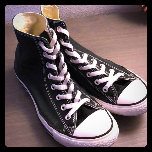 f5262d8193fe9 Converse Shoes - Classic Black Converse High Tops! Women s 11